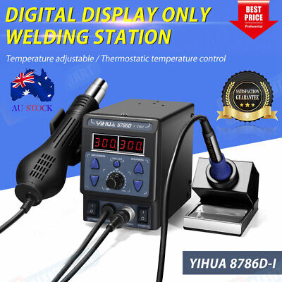 AU86.99 • Buy Genuine YIHUA 8786D 2 In 1 Soldering Solder Station SMD Rework Iron +Hot Air Gun
