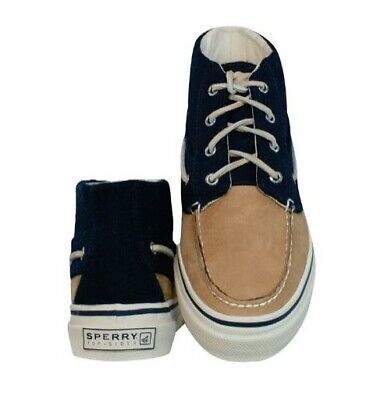 £24.95 • Buy Sperry Top-Sider Mens Bahama Suede & Wool Navy Casual Boat Hi Shoes Boots Size