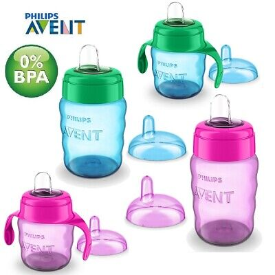 £9.99 • Buy Avent Easy Sip Soft Spout Cup 200ml Or 260ml Baby Toddler Weaning Drink Beaker