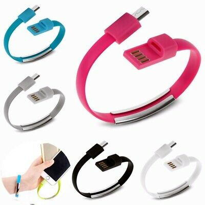 $6.70 • Buy Iron Metal New Micro USB Bracelet Charger Cable Wristband Charge Data Sync Cord