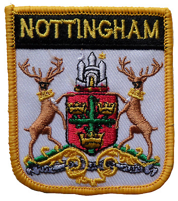 Nottingham Shield Embroidered Patch • 4.50£
