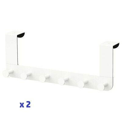 Ikea 2 X Enudden Bedroom / Bathroom Over Door 6 Hooks Clothes / Towels Hanger • 9.79£