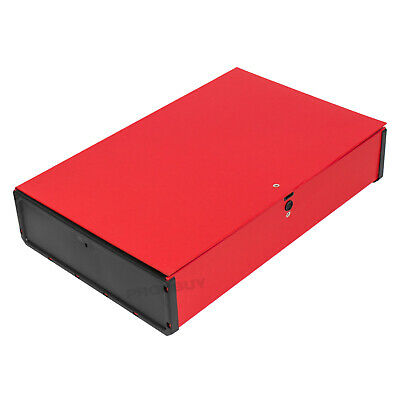 Red A4 Foolscap Cardboard Box File Paper Document Folder Office Storage Case • 7.99£