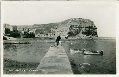 £6 • Buy Real Photographic Postcard Of The Harbour, Staithes, North Yorkshire By Salmon