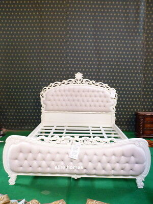 £1999 • Buy STOCK ~ Super King Chatelet® Bed Gothic Ivory Cream French Chesterfield Style