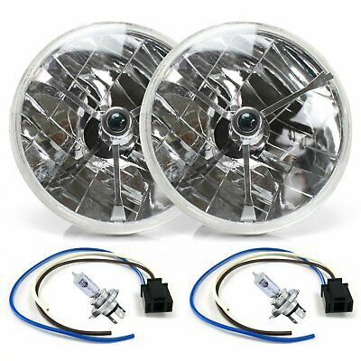 $89.31 • Buy Tri-Bar 7  Inch Halogen Lens Assembly With H4 Bulb And Plug  Pair AutoLoc