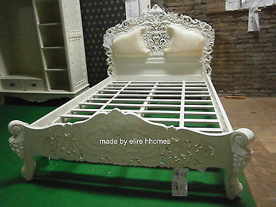 Ivory  5' King Size French Baroque Louis Style ....TOP Quality Rococo Bed • 999£