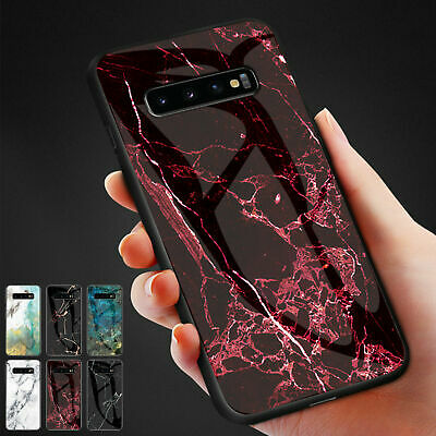 AU16.55 • Buy For Samsung Galaxy Phones Patterned Marble Tempered Glass Back Slim Case Cover