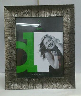 AU18.95 • Buy   Lugn  Copper/Brown Striped Effect Photo Picture Frame 8x10, Freestanding/hangi