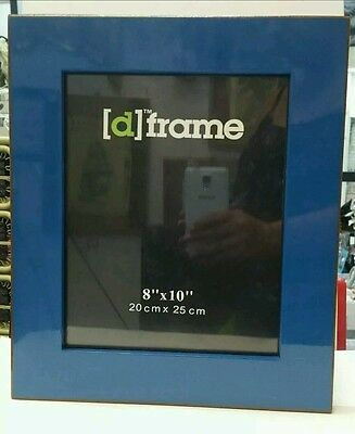 AU24.95 • Buy Havana Blue Wooden Photo Picture Frame 8x10, Glass Front, Freestanding.