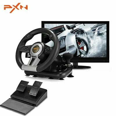 Driving Racing Game Controller Steering Wheel Brake Pedal F/ PC PS3 PS4 Xbox One • 98.49$