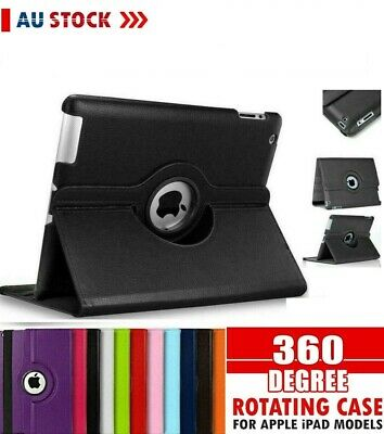 AU9.89 • Buy Apple 360* Leather Case Cover IPad Mini 2 3 4 5 8th 7th 6th Gen Air 1 2 12.9 11