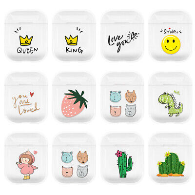 $ CDN2.35 • Buy Cute Cartoon Hard Earphone Protective Cover For Airpods Charging Case Clear Skin
