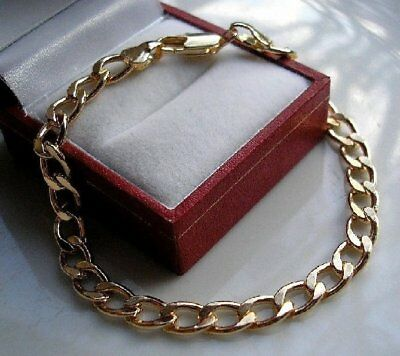 GENUINE 9ct Gold Curb Bracelet GF SILLY PRICE ALMOST SOLD OUT! ST15 • 29.95£