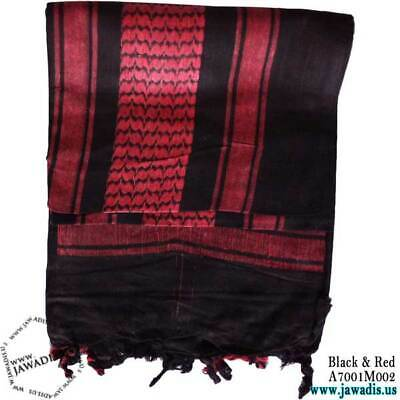 $12.99 • Buy Unisex Shemagh Wrap, Keffiyeh, Military Head Scarf Woven Cotton - Black & Red