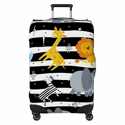 Animals Kids Striped SUITCASE COVER Skin Protector Multi-Coloured • 18.99£