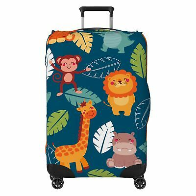 Jungle Animals Kids SUITCASE COVER Skin Protector Green • 20.99£