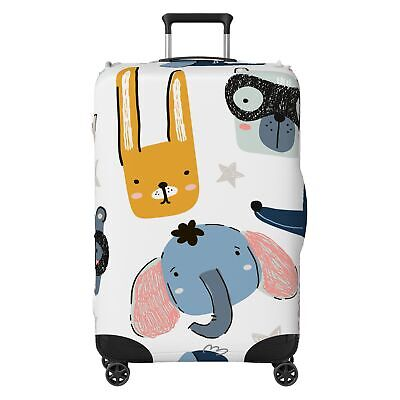 Funny Animals Kids SUITCASE COVER Skin Protector White • 20.99£