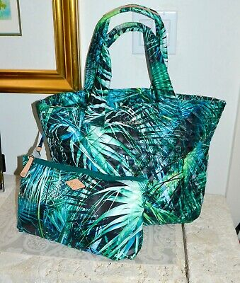 AU269.52 • Buy NWT $225 MZ Wallace METRO Med Tote Bag Leather Trim Paradise Print