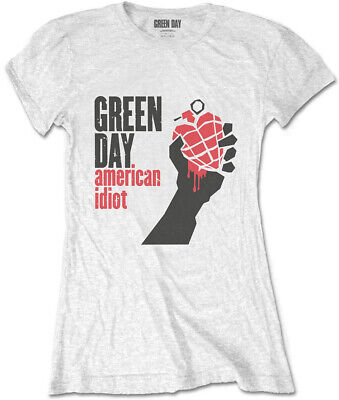 £13.99 • Buy Green Day 'American Idiot' (White) Womens Fitted T-Shirt - NEW & OFFICIAL!