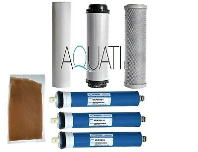 3x100GPD Membrane Reverse Osmosis RO Water Filter Replacement 5 Stage System DI • 58.50£
