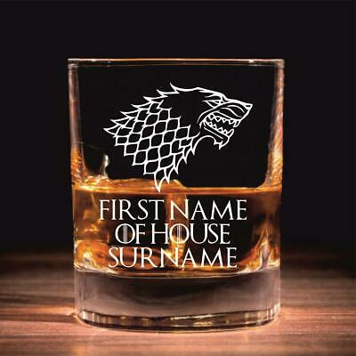 £9.99 • Buy Personalised House Stark Game Of Thrones Inspired Whisky Glass