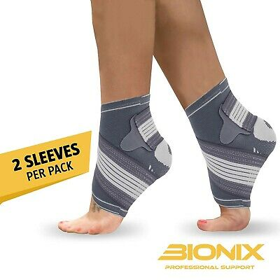Ankle Support Brace Compression Achilles Tendon Strap Foot Sprains Injury Pair • 5.99£