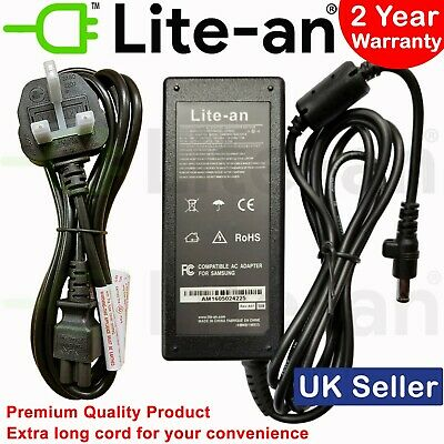 For Samsung N193 V85 N17908 60W Power Supply AC Adapter Charger 19V 3.16A + Cord • 14.99£