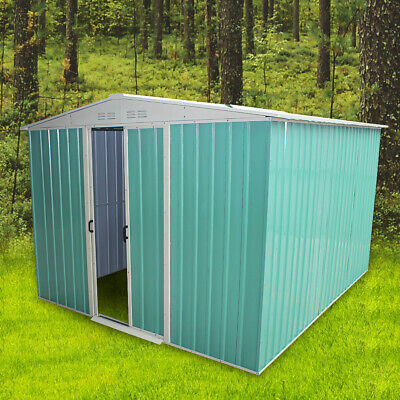 New Garden Shed Metal Apex Roof Outdoor Storage With Free Foundation 8ft X 6ft • 249.99£