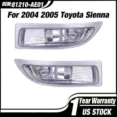 $35.98 • Buy 81220-AE010 81210-AE010 LEFT & RIGHT Fog Lights Lamps For 2004-06 Toyota Sienna