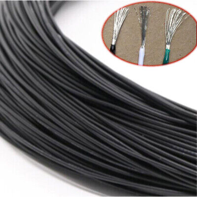 £1.19 • Buy 16~30AWG Black Electronic Wire UL1007 Flexible Stranded Cable Cord Tin Copper