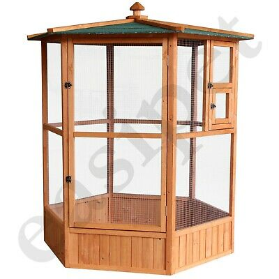£199.99 • Buy Large Wooden Aviary Bird House Canary Budgie Finch Love Bird Small Pet Shelter