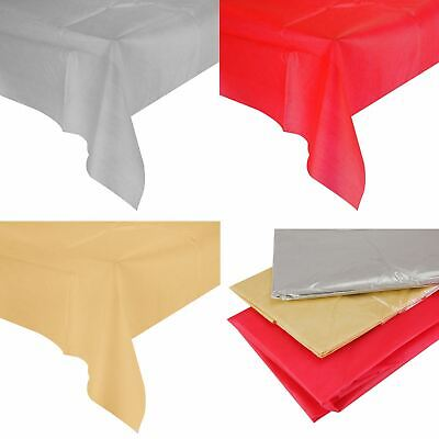 Red Gold Silver Fabric Table Cloth Table Cover Rectangular Dining Tableware UK • 2.99£