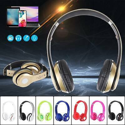 Wireless Headphones Bluetooth Headset Noise Cancelling Over Ear With Microphone • 8.95£