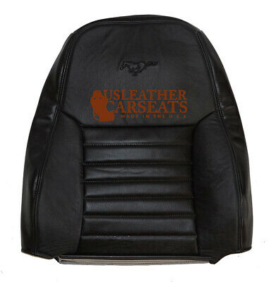 $179.99 • Buy 99-04 Ford Mustang GT 6-Speed Manual Driver Lean Back Leather Seat Cover Black