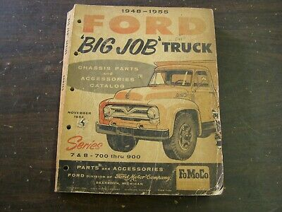 $109 • Buy Original Ford 1948 1955 Big Truck Master Parts Book Chassis 1949 1950 1951 1952