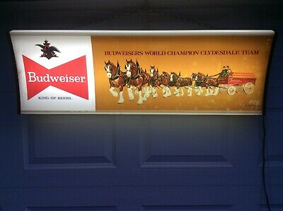 $ CDN665.47 • Buy Budweiser Beer World Champion Clydesdales Advertising Beer Sign 4 Feet Long