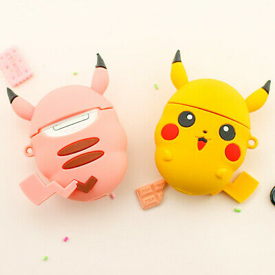 $ CDN17.92 • Buy Airpods Cover Strap Shockproof For Apple Bluetooth Earphone Pikachu Case Cute