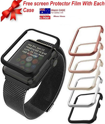 AU8.09 • Buy Apple Watch Series 4 5 6 IWatch 40 44mm Screen Protector Case +Free Screen Film