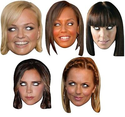 Ladies Spice Girls Posh Scary Sporty Ginger Baby Fancy Dress Costume Masks • 5.99£