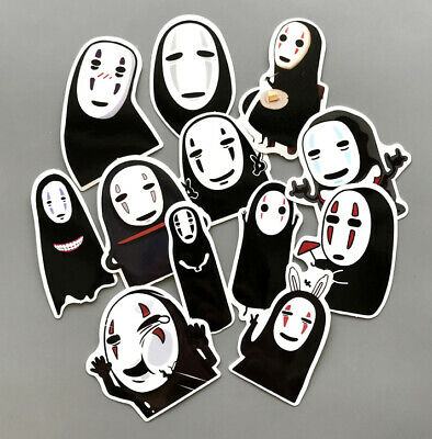 $ CDN6.14 • Buy Anime Spirited Away No Face Man Stickers 12pcs For Laptop Luggage Refrigerator