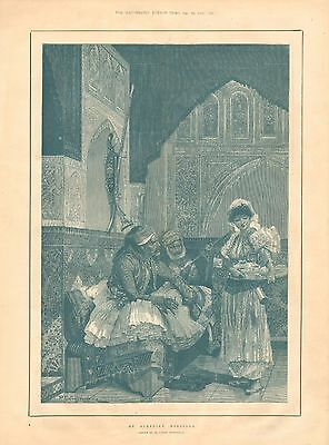 1892 Antique Print - Art - An Albanian Morgiana - By R Caton Woodville • 14.99£