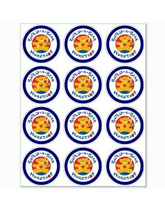 12 Build A Bear Party Stickers • 1.50£