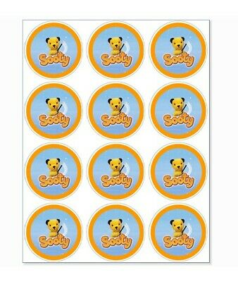 12 Sooty Party Stickers • 1.50£