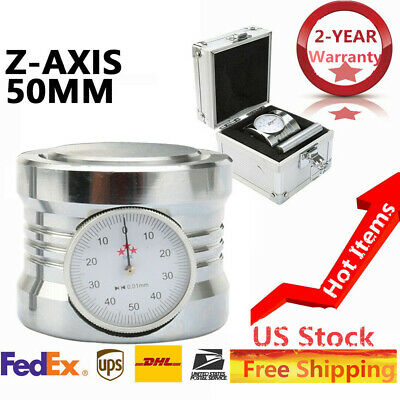 $54.48 • Buy Magnetic Z Axis Zero Pre Setter Dial Set For CNC Router 50mm±0.01mm Gage Offset