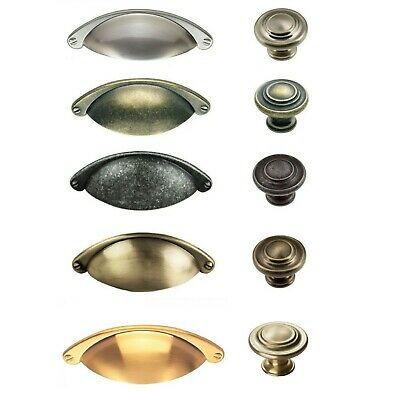 FTD SHAKER Cabinet Cupboard Kitchen Wardrobe Door Handles CUP & KNOBS To Match • 2.75£