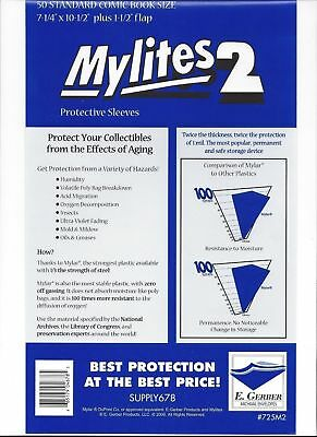 $17.99 • Buy 50 Gerber Standard Mylar Mylite2 (=BCW Silver); FAST FREE SHIPPING