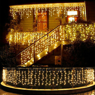 13-130FT LED Fairy Icicle Curtain Lights Party Indoor Outdoor Xmas Decoration • 11.99$