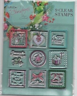 Docrafts ~ Unmounted Rubber Stamp ~ Lucy Cromwell At Christmas ~ 9 Mini Stamps • 2.50£
