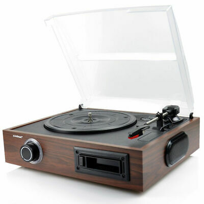 AU95 • Buy Mbeat USB Turntable Vinyl/Cassette To MP3 Recorder/Wooden Record Player Speaker